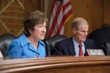 Ranking Member Collins with Chairman Nelson